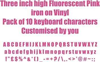Two Inch Red Iron On Characters Letters or Numbers Vinyl Printing