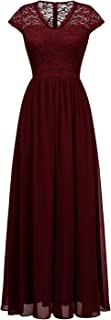Best burgundy chiffon maxi dress Reviews