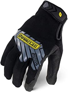 Ironclad Command Pro Water Resistant Work Gloves; Touch Screen Gloves Conductive Palm & Fingers, Durable, Performance Fit, Machine Washable, Sized S, M, L, XL, XXL (1 Pair)