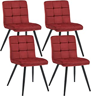Best red dining chairs set of 4 Reviews