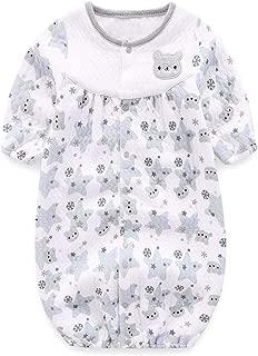 Boo.Kabee ベビー服 長袖 カバーオール ツーウェイオール ふんわり柔らかい 熊と星と雪柄 50-70CM(0-6ヶ月)BKB795H
