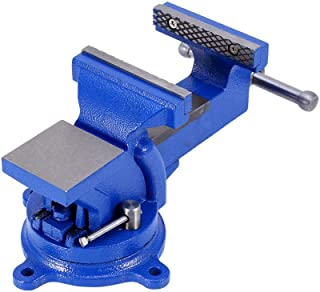 Table Vice, Heavy Duty Swivel Workshop Bench Vice Clamp, 4 Inch 100mm 360° Rotatable Desktop Clamp Engineers Table Bench Vice Clamp
