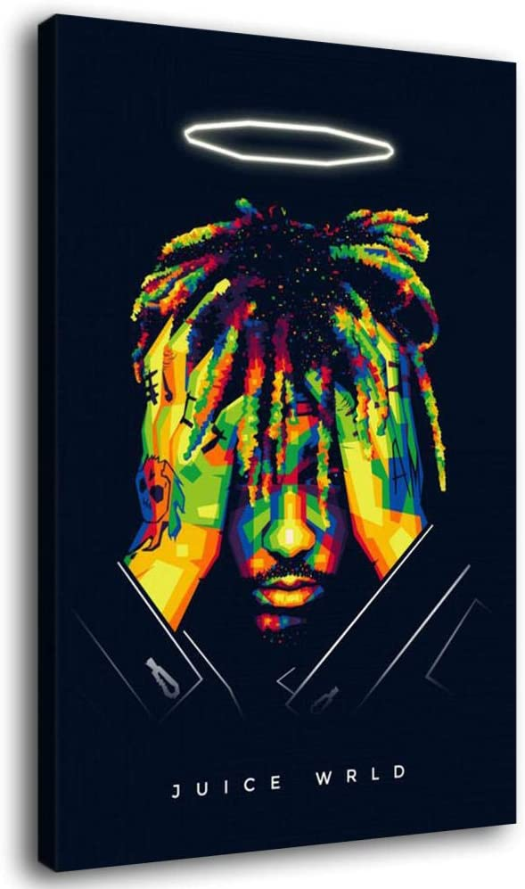 Hiphop Rap Juice World Canvas Art Poster And Wall Art Picture Print Modern Family Bedroom Decor Posters Posters Prints