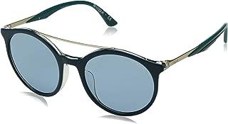 VOGUE Women's 0vo5242sf Round Sunglasses, top Dark Green Transparent, 51.0 mm