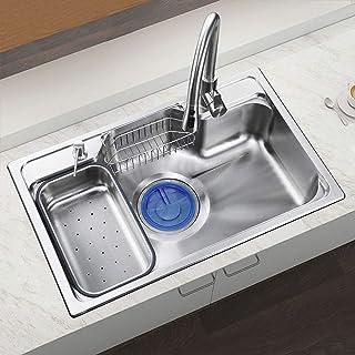 HomeLava Küchenspüle 304 Edelstahl Spülbecken mit Seifenspender