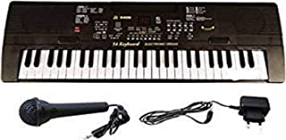 BRIX Music Educational Electronic Piano Keyboard with 54 Keys for Kids (Black)
