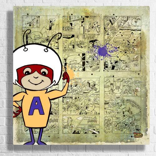 Desconocido Cuadro de Hormiga Atomica - Pintura Original - Serie Limitada (65x65cm)