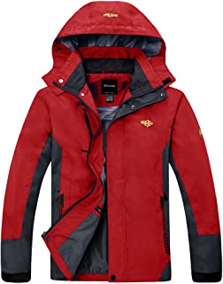Men's Rain Jacket Breathable Hiking Coat Mountain Insulated Windbreaker