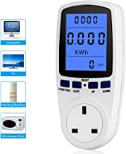 UK Plug Power Meter Electricity Usage Monitor Estink AC 200V~250V 13A Max 7 Modes Power Consumption Socket Home Energy Volt Amps Watt Analyzer with Digital LCD Display Overload Protection
