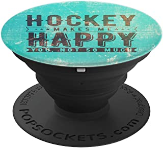 Cool Ice Field Hockey Quote Goalie Player Gift - Teal Marble - PopSockets Grip and Stand for Phones and Tablets