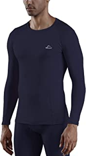 Willit Men's Thermal Base Layer Tops Long Sleeve Underwear Shirts Lightweight Fleece Lined Long Johns