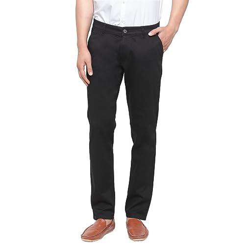 82374fdf23 Men's Black Cotton Pant: Buy Men's Black Cotton Pant Online at Best ...