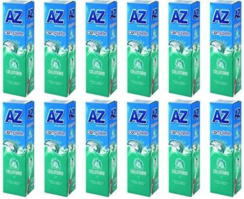 12 X AZ Ricerca Dentifricio con Collutorio Complete 7 Freschezza Delicata
