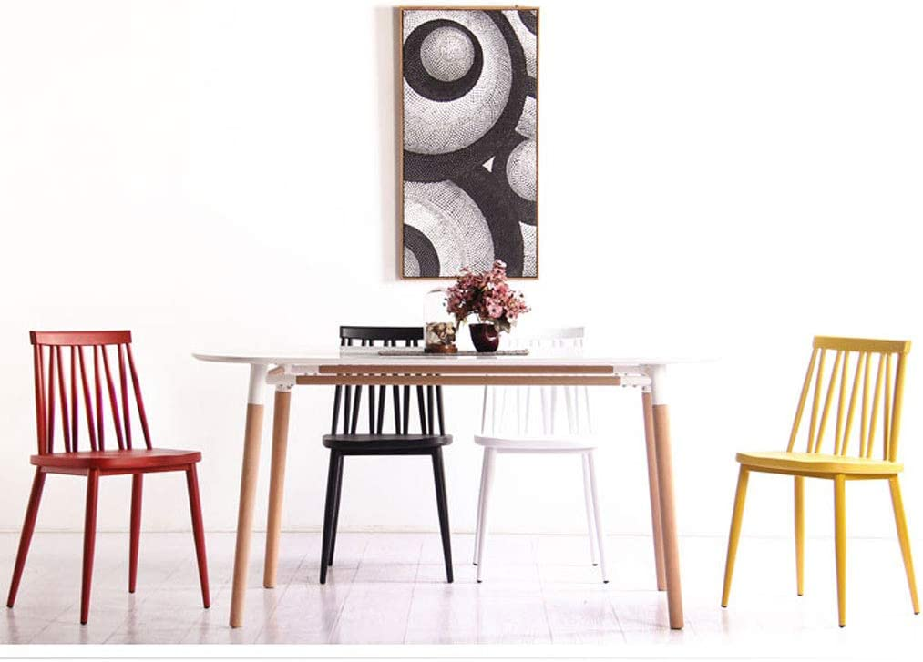 SLL- Chaise en Plastique de Bureau de Loisirs de Tabouret de Dossier de ménage Minimaliste Moderne de Chaise Moderne (Color : B) B