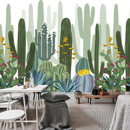 SunZhi Tapeten Retro nostalgisch casual café tapete mediterran street view bar tisch hintergrundbild nahtlose großes wandbild 513,250 cm * 175 cm