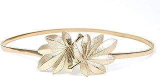 Gold Belts For Women Dress Skinny Luxury Elastic Waist Metal Chain Thin Gold Waist By Designer