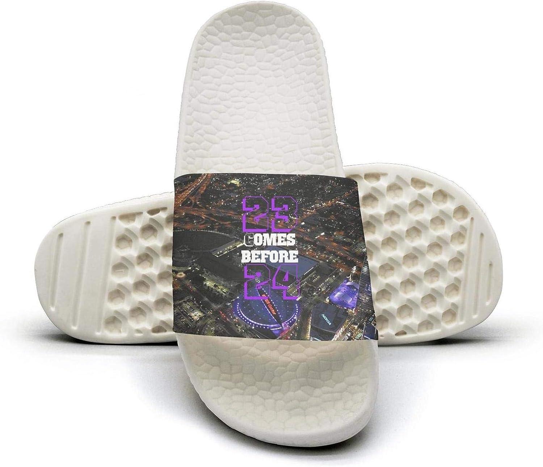 ADIDII Womens Printed Non-Slip Slippers Slides flip Flop Sandals La_Bron_Yellow_Logo_Basketball Summer Casual