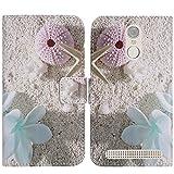 TienJueShi Seestern Flip Book-Style Brief Leder Tasche Schutz Hulle Handy Hülle Abdeckung Fall Wallet Cover Etui Skin Fur Gigaset GS180 5 inch