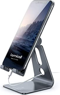 Adjustable Cell Phone Stand, Lamicall Phone Stand: [Update Version] Cradle, Dock, Holder Compatible with iPhone Xs XR 8 X ...