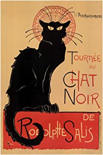 Le Chat Noir The Black Cat Bohemian Montmartre District Paris Vintage Advertisement Cool Wall Decor Art Print Poster 12x18