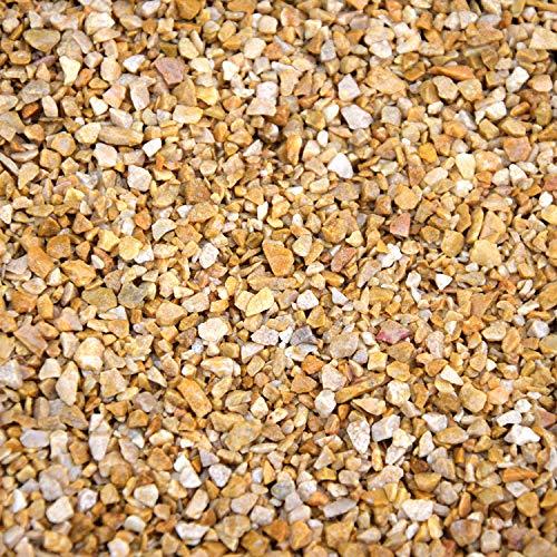 BTT-ST Steinteppich aus Marmorkies Giallo Mori und Epoxidharz Bindemittel für 7,2m² Marmorstein Marmorkiesel Steinboden Bodenbeschichtung