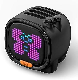 Divoom Pixel Art Smart Alarm Clock Speaker for Kids with App Control (Black)