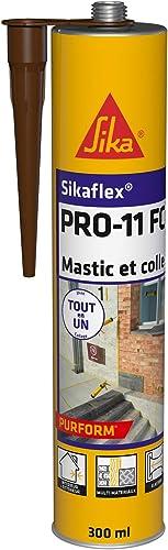 Sikaflex PRO 11 FC Purform Marron, Mastic polyuréthane PU tout en 1, mastic multi-matériaux, mastic étanche intérieur...