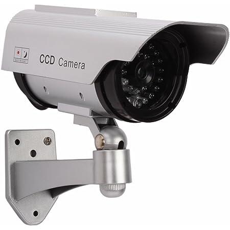 【防犯カメラ(ダミー)】LED 常時点滅 で不審者を常に威嚇! ソーラーパネル 搭載 ダミーカメラ 防犯カメラ 並行輸入品