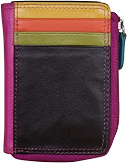 ili New York 7411 Leather Credit Card Holder (Black Brights)