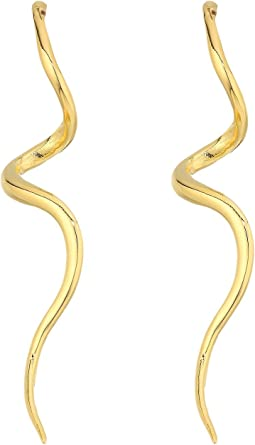Kenneth Jay Lane Polished Gold Swirl Post Earrings