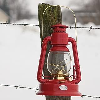 Crownplace Brands Dietz Lil' Wizard Hurricane Oil Lantern Red with gold trim