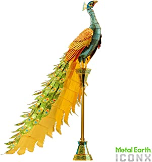 fascinations Metal Earth ICONX Peacock 3D Metal Model Kit