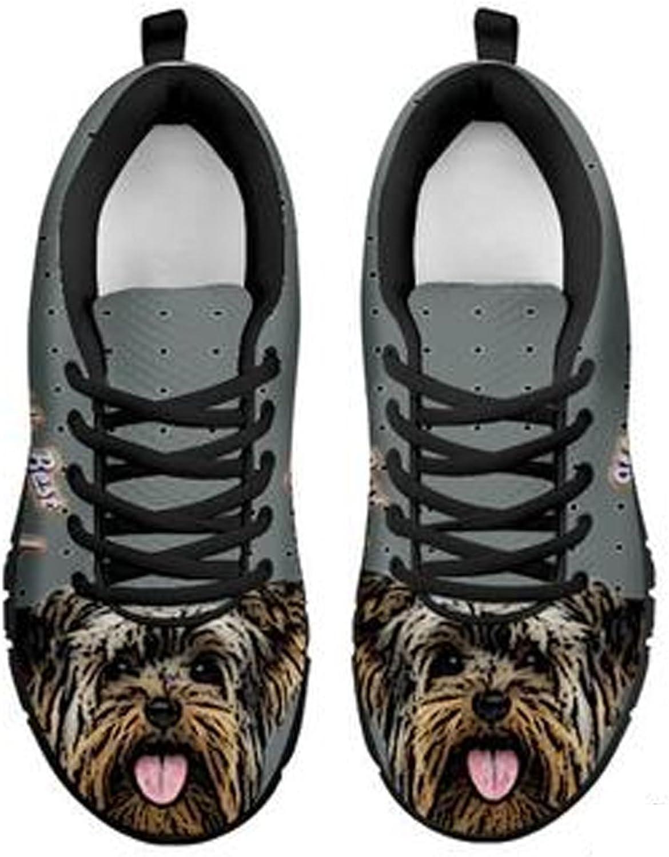 Brand Amazing Yorkshire Terrier Dog Print Men's Casual Sneakers (12, Black)