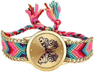 Nurpi Geneva Butterfly Stylish and Attractive Strap Watch - for Girls