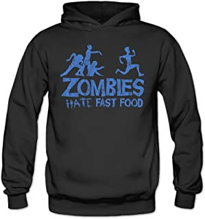 Funny Zombies Hate Fast Food Classic Women's Hooded Hoodies