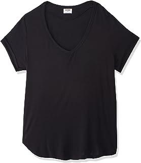 COTTON ON Women's Karly Short Sleeve V Neck Top, Black, XS