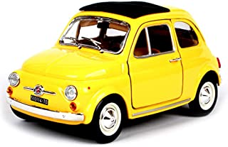 1:30 Scale Fiat 500 Model Car Diecast Gift Toy Vehicle Kids Pull Back Collection