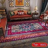 QKDSDM Alfombras Home Alfombra De Diseño Rojo Persa Turco alfombras de habitacion Alfombra Salon Alfombras Infantiles 160x230cm