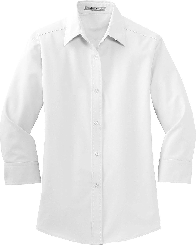 Port Authority Women's 3/4-Sleeve Easy Care Shirt. L612, White