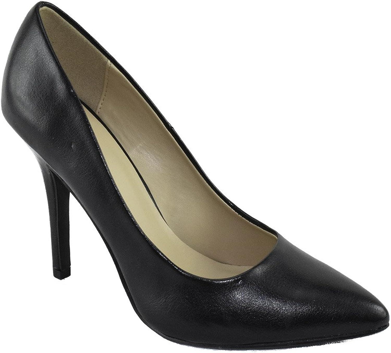 Soda Delicious Women Slip On High Heels Pointy Toe Pumps Formal Date