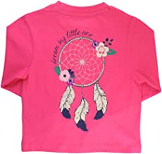 RuffleButts Little Girls Long Sleeve Signature Graphic Southern Pocket Tee