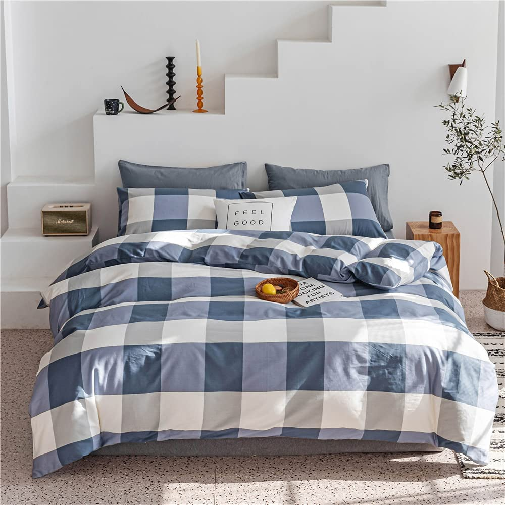 VClife Queen Cotton Easy-to-use Duvet Cover Beige Sets Selling and selling Coffee Printed Comfor