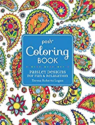 Posh Coloring Book Paisley Designs