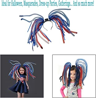 Light Up Hair - Toy Cubby LED Party Rave Disco Flashing Noodle Wig - Light Glowing American Colored Dreads. Ideal for Halloween, Dress Up Parties, Masquerades...and So Much More! Be Refined!