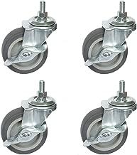 OuYi Caster Wheels, 3Inch Rubber Wheels Heavy Duty, 1/2