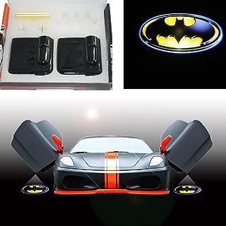 Spoya 3D Batman shield badge wireless magnetic car door LED welcome logo shadow laser projector light Powered by battery