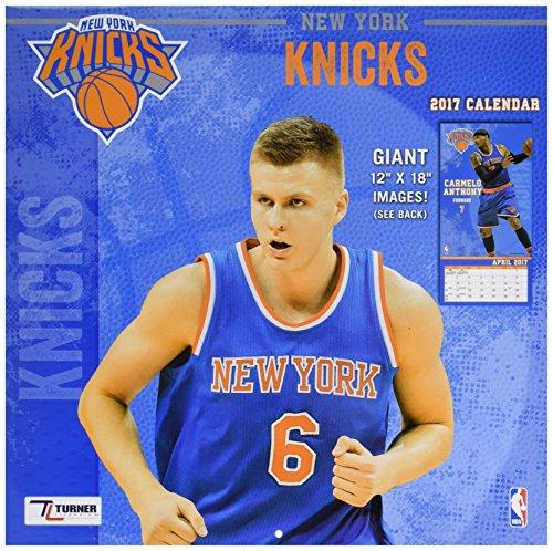 "Turner Licensing Sport 2017 New York Knicks Team Wall Calendar, 12""X12"" (17998011888)"