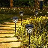 Luces solares de jardín de Senders, 6 unidades, lámpara solar de...