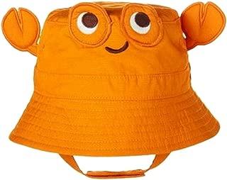 TANGDA Baby Toddler Fisherman Bucket Hat Crab Pattern Sunhat with Chin Strap