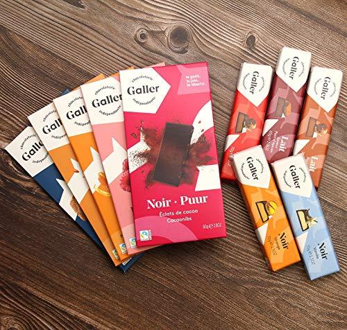 父の日ギフト Galler ( ガレー ) ベルギー王室御用達 チョコレート 中身お任せ バー&タブレット バラエティセット 10個入(メッセージカード付き)